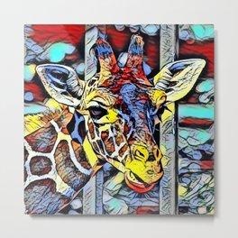 Color Kick - Giraffe Metal Print