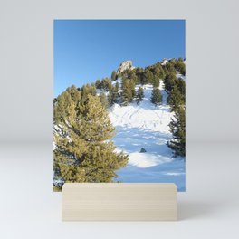 Winter mountain Mini Art Print