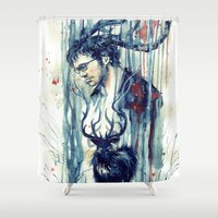 will graham Shower Curtains featuring Will Graham by AkiMao