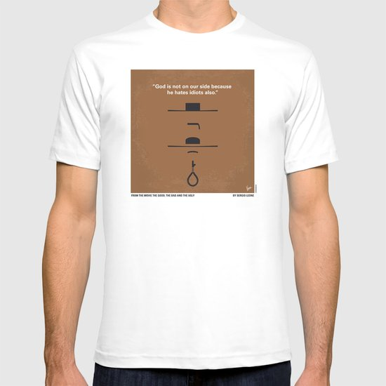 No090 My The Good The Bad The Ugly minimal movie poster T-shirt