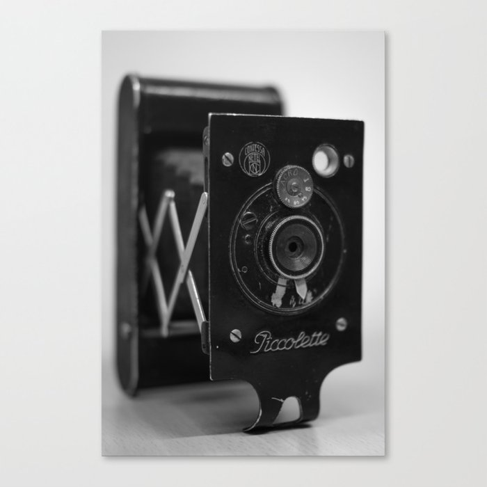 Black and white Vintage camera Canvas Print
