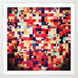 Pixel Play (ii) Art Print