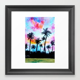 Palm trees Framed Art Print