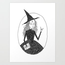 Satanic Witch Art Print