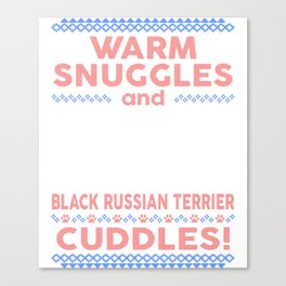 Black Russian Terrier Ugly Christmas Sweaters Canvas Print