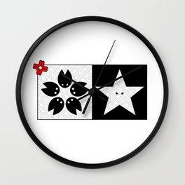 Sakura X Star Wall Clock