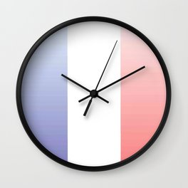 Flag of France -with color gradient Wall Clock