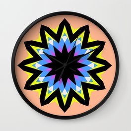 black eye susan star Wall Clock
