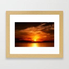Eternal Sunset Framed Art Print