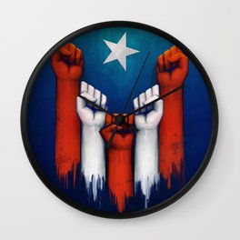 Puerto Rico power of the people Wall Clock
