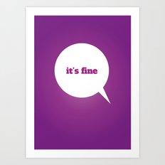 Things We Say - it's fine Art Print