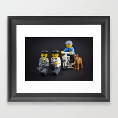Why run with the key Framed Art Print