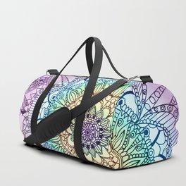 Purple Butterfly Mandala Duffle Bag