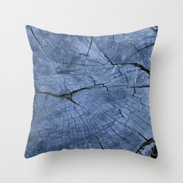 Wood Tree Stump  Throw Pillow