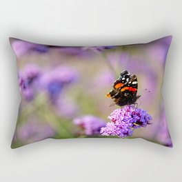 Painted lady butterfly Rectangular Pillow