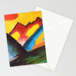 'Loneliness,' A Sunset Mountain Landscape by Alexej von Jawlensky Stationery Cards