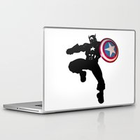 captain silva Laptop & iPad Skins featuring Captain by Crayle Vanest