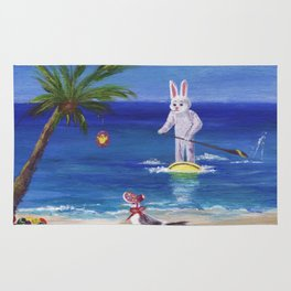 Easter Bunny at the Beach Rug