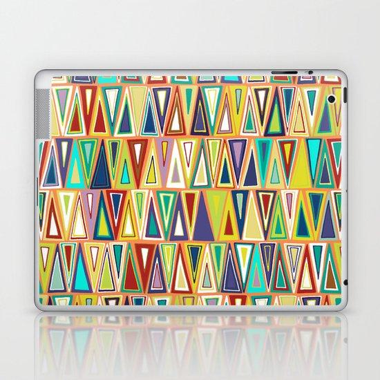 tangerine triangles Laptop & iPad Skin