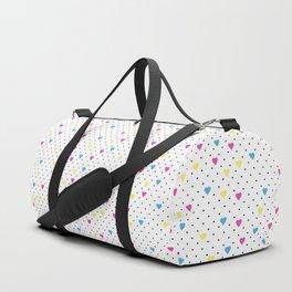 Pin Point Hearts CMYK Duffle Bag