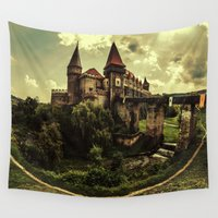 fairytale Wall Tapestries featuring Fairytale Castle by EclipseLio