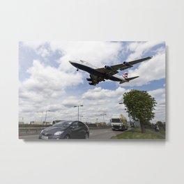 British Airways Boeing 747 London Heathrow Metal Print