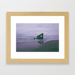 Shipwreck at Fort Stevens state park Oregon Framed Art Print