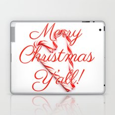 Merry Christmas Y'all Candy Cane Laptop & iPad Skin