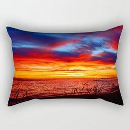 Red Sea at Dawn Rectangular Pillow