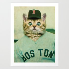 Baseball Kitten #3 Art Print