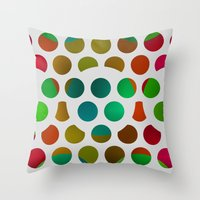 polka dot Throw Pillows featuring Polka Dot Polka Dots  by Paul Ashby