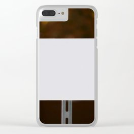 White Sign Clear iPhone Case