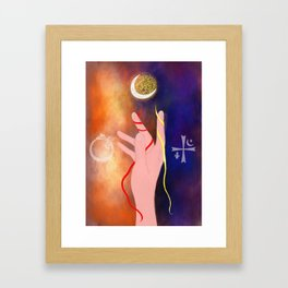 A witch's power Framed Art Print