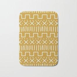 Mustard Mud Cloth Bath Mat
