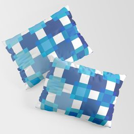 50 / 114 Squares of BLUE - Living Hell Pillow Sham