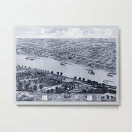 Map Of Jefferson City 1869 Metal Print