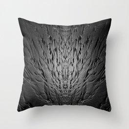 Rivulets on a sandy beach Throw Pillow