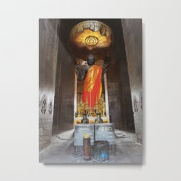 Angkor Wat Buddha Metal Print