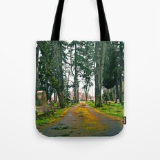 Cemetery pathway Tote Bag