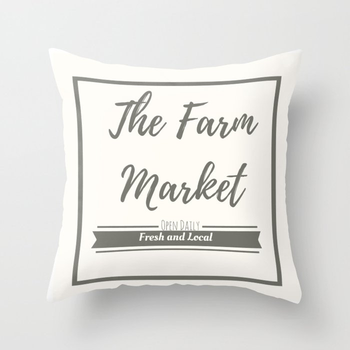 The Farm Market Throw Pillow