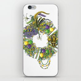 Mardi Gras Wreath iPhone Skin