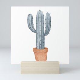 Watercolor Potted Saguaro Mini Art Print