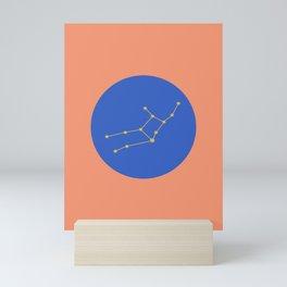 Virgo Constellation - Bold Peach & Blue Mini Art Print