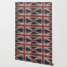 England's Union Jack flag of the United Kingdom - Vintage 1:2 scale version Wallpaper