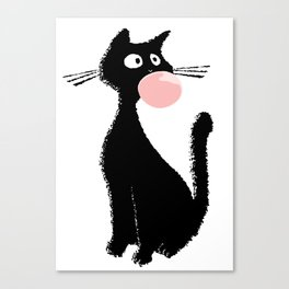 Bubblegum Kitty Canvas Print