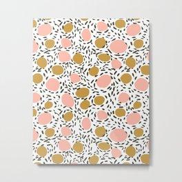 Pebbles cute pattern gender neutral dorm college abstract design minimal modern earth nature Metal Print