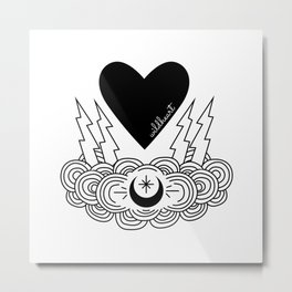Heart in a Storm Metal Print