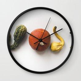 Decorative pumpkins Wall Clock