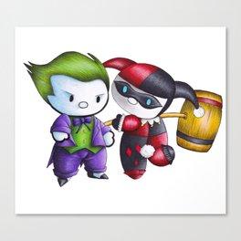 Joker Harley Quinn Canvas Print