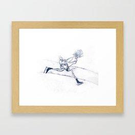 ice skate Framed Art Print